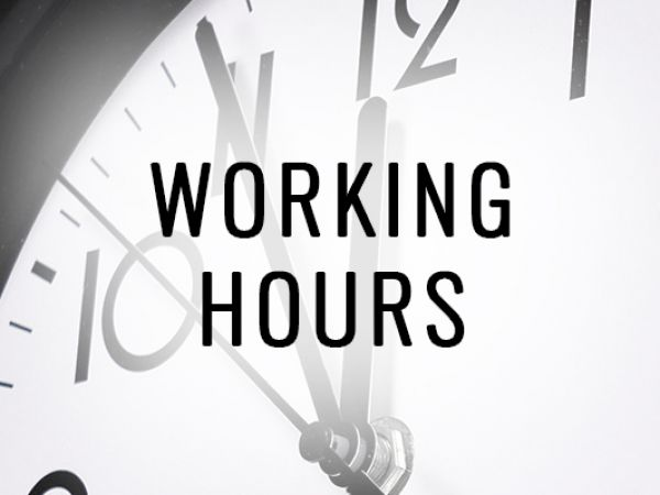 Working Hours 2019 | December | January