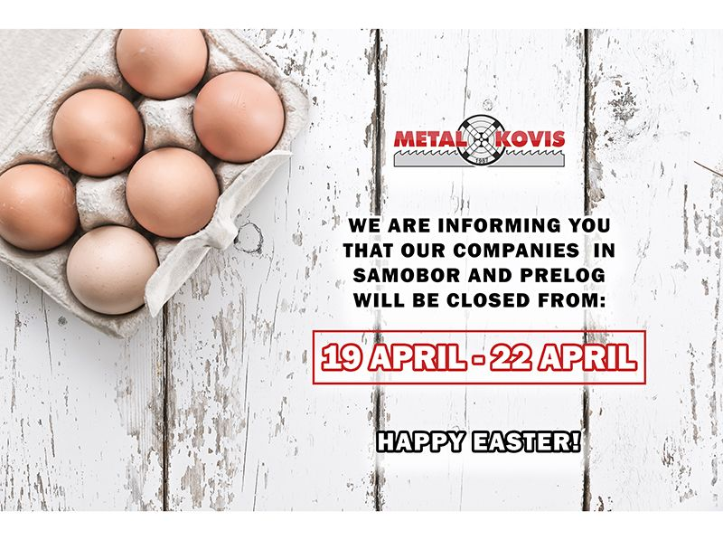 Working Days - Easter 19 April - 22 April