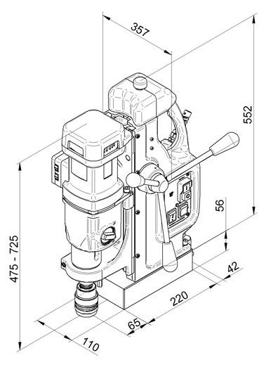 Magnetna bušilica BDS MAB 825 V