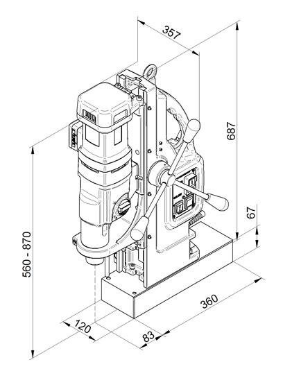 Magnetna bušilica BDS MAB 1300