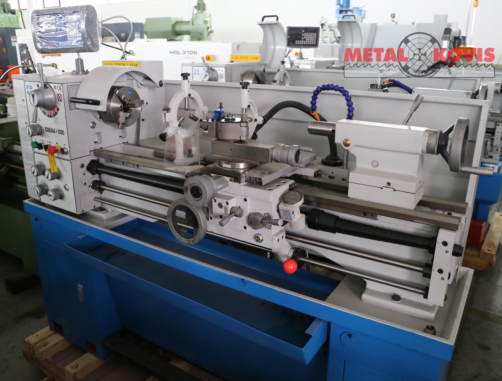 Tokarski stroj C0636Ax1000 mm, s digitalnim očitanjem