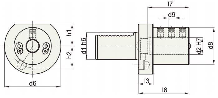 VDI40 držač alata E2-40x8 Sphoorti