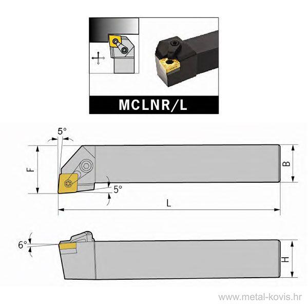 Nosač pločice MCLNR 2525 M12