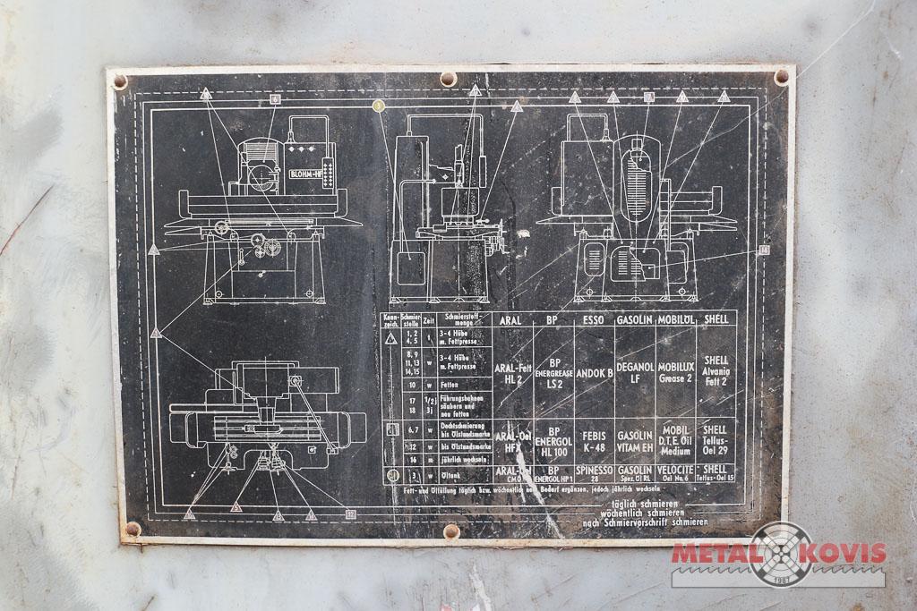 Brusilica planska BLOHM HFS 6, 600×300 mm
