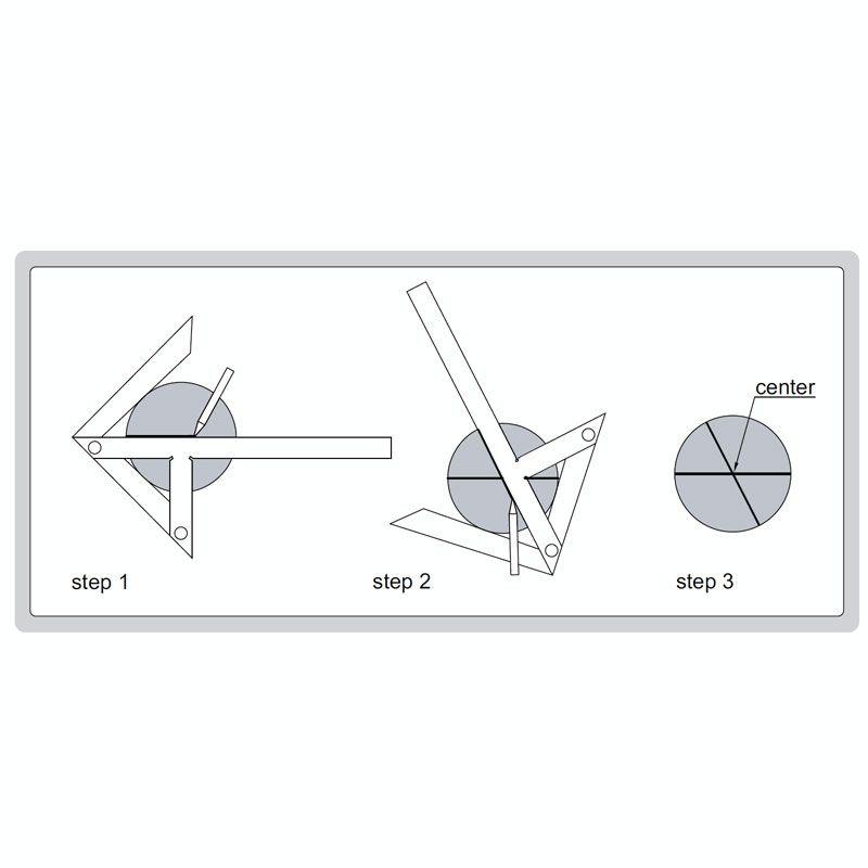 Mjerilo za označavanje centra, 150×130 mm