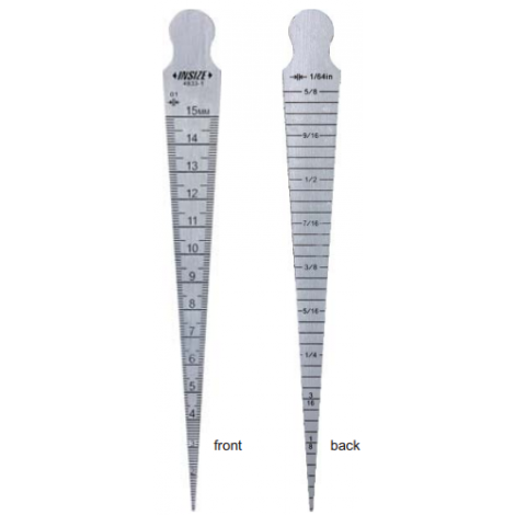 Mjerilo konusno, 0,8-15 mm