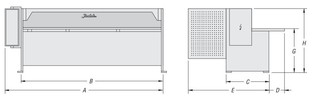 Elektro-mehaničke škare RGS 3150x3 mm, Baykal