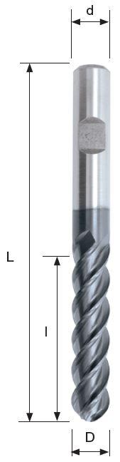 Glodalo Ø10, HSS-E, 4 pera, VT3