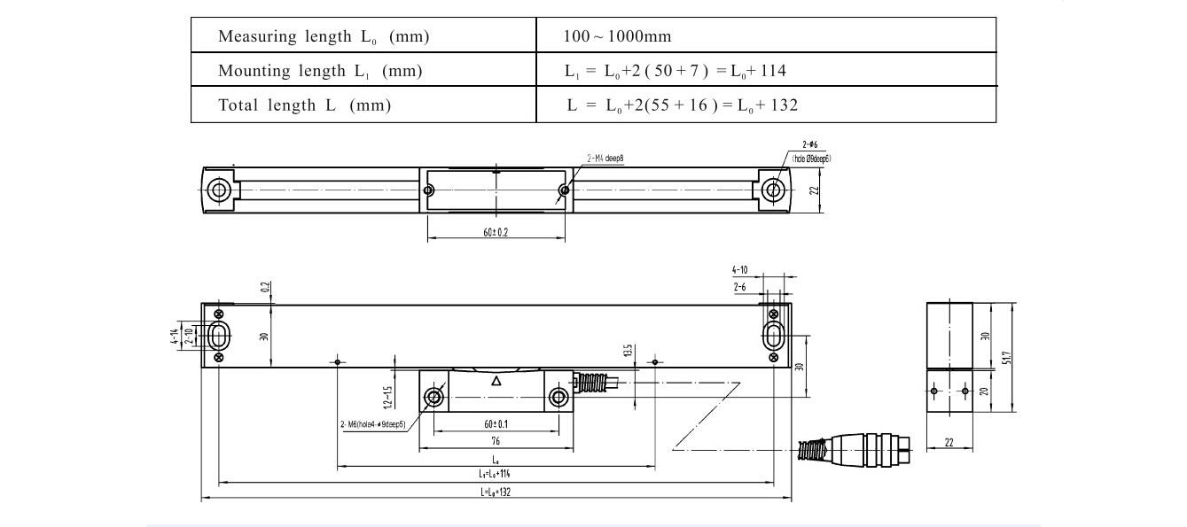 Mjerna letva 2000 mm, 5µm, TTL signal