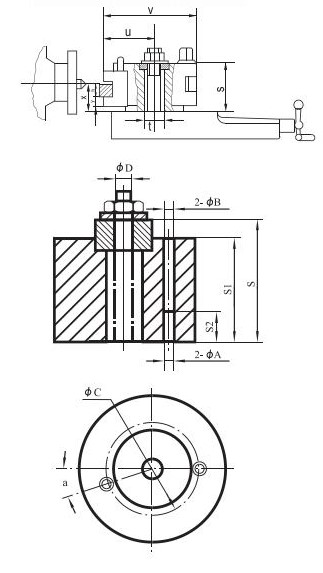 Brzoizmjenjiva glava za tokarski stroj s 4 držača alata D1