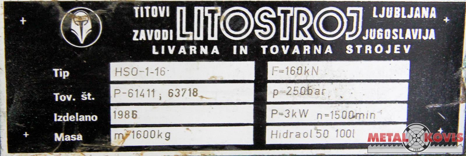 Hidraulična preša Litostroj HSO-1-16, 15 t