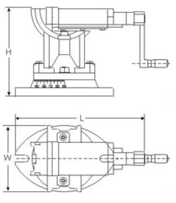 Škripac - troosni, 100 mm