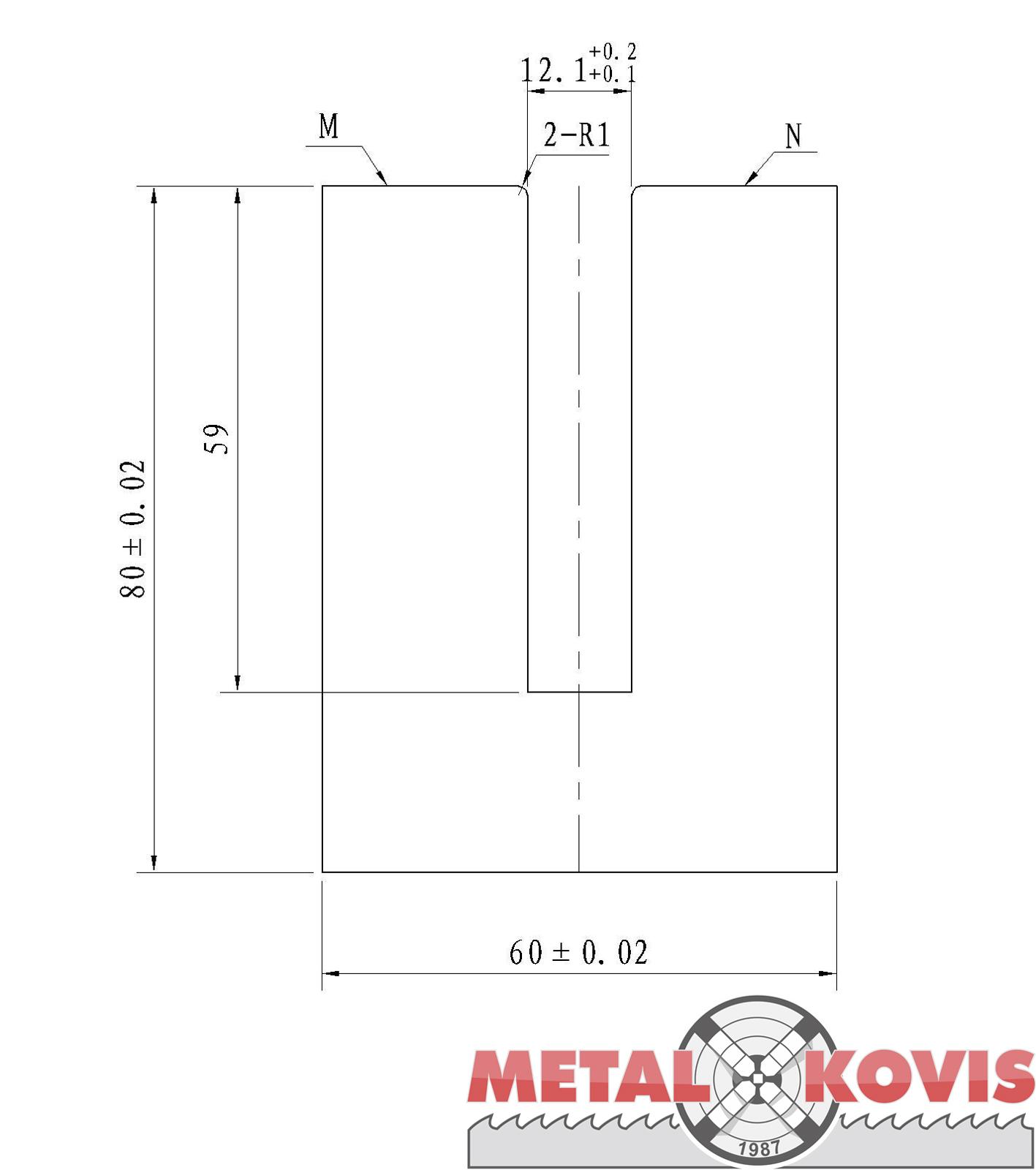Donji alat za pertlanje L=835 mm