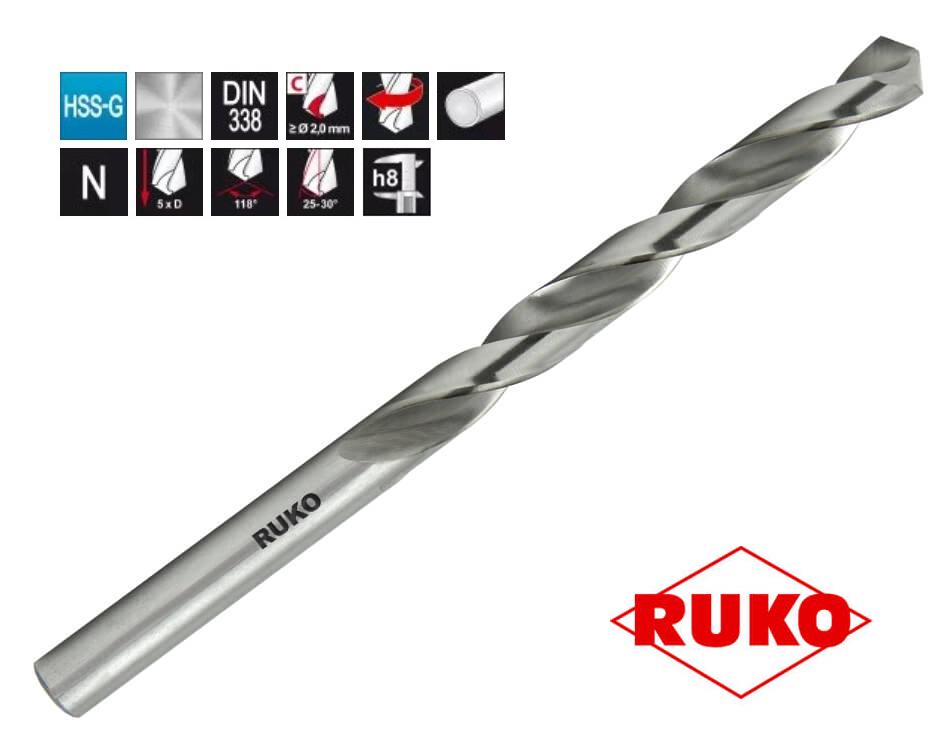 Svrdlo Ø10,8 mm, HSS-G, DIN338, RUKO
