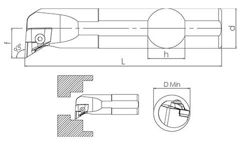 Držač pločice S25S CKUNR 16