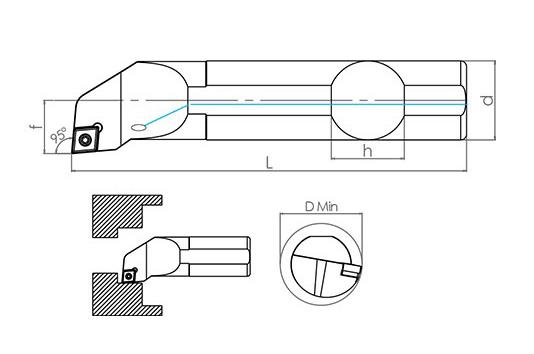 Držač pločice A08H SCLCR-06