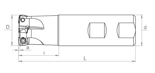 Glodaća glava ST90 AP10 D16 W16 L120 Z02