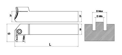 Držač pločice BDKT 2525 LT ZT 3C, Ø48-70
