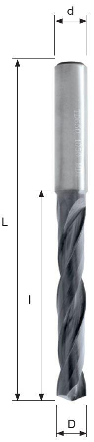 Svrdlo TD 650 0190 KP60, Ø1,9mm, 5xD, BFT Burzoni