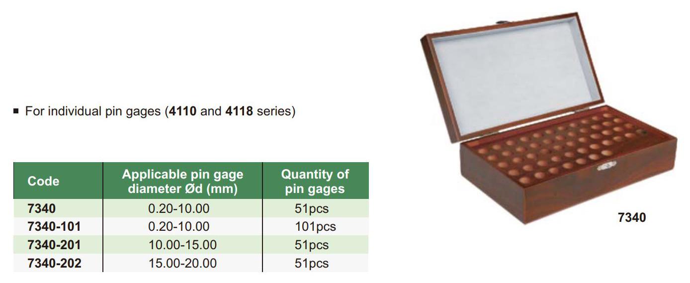 Drvena kutija za etalone, Insize