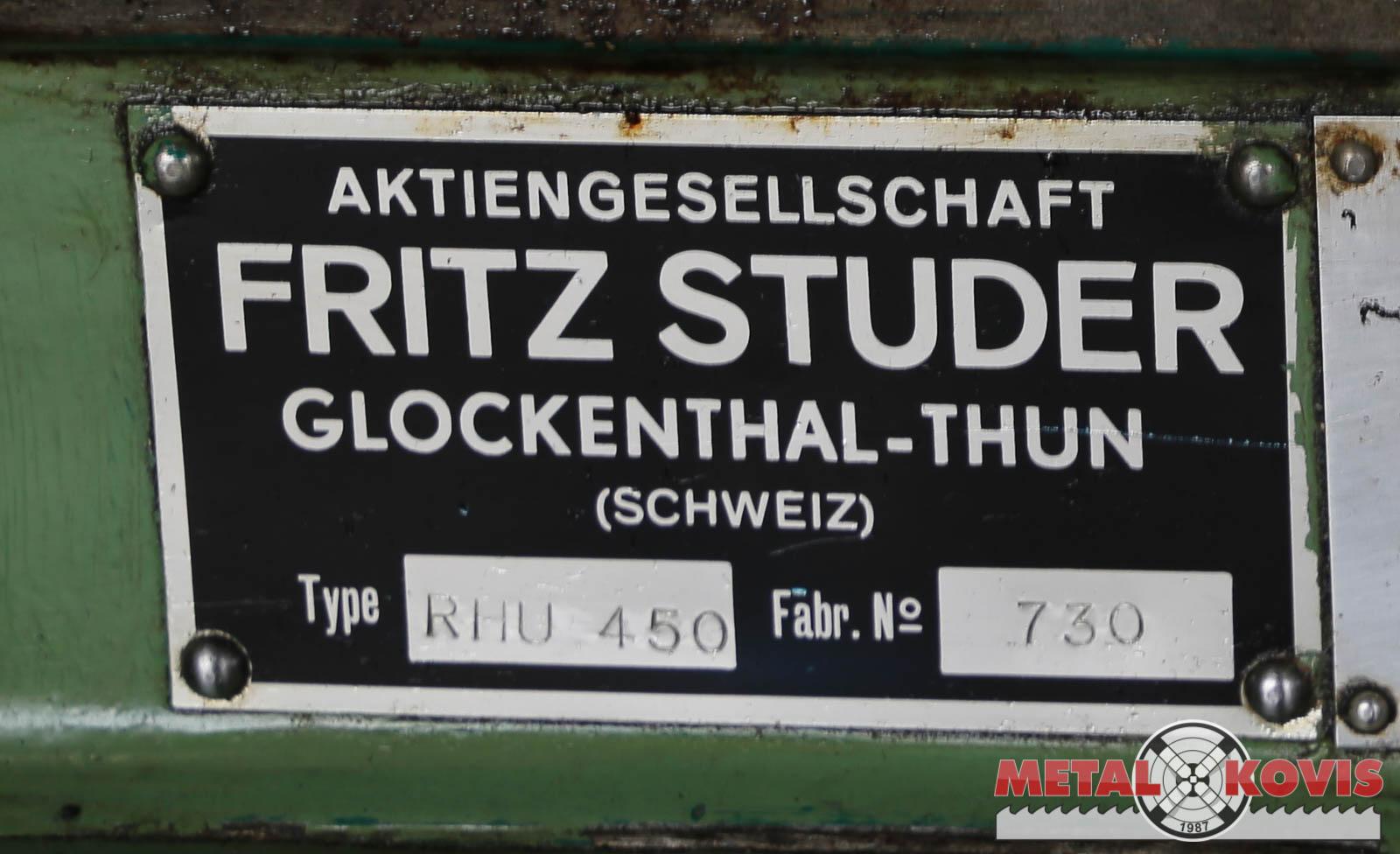 Brusilica za kružno brušenje Fritz Studer RHU 450