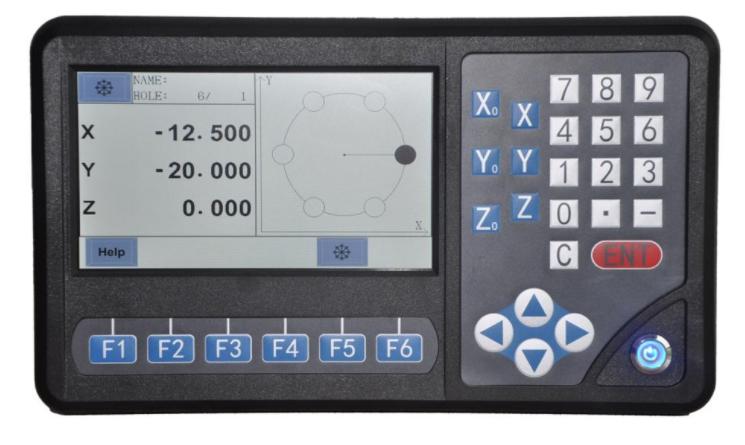 Digitalno očitanje D80-3A, 3-osi