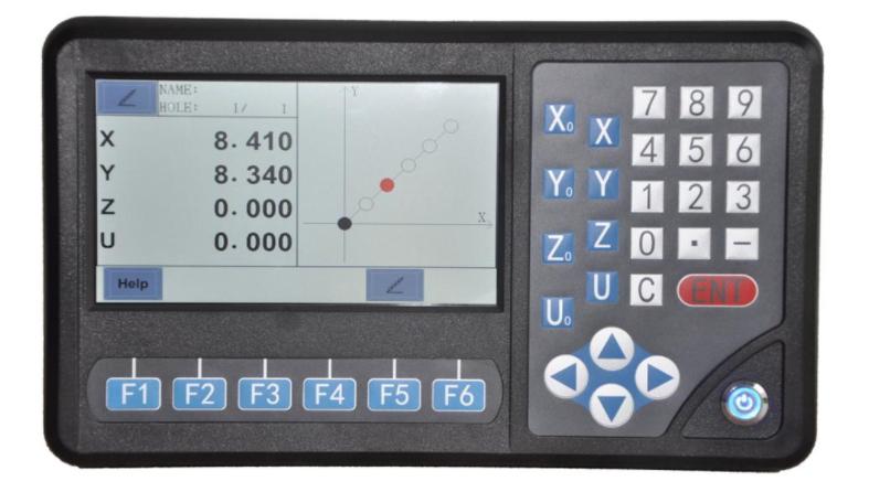 Digitalno očitanje D80-4A, 4-osi