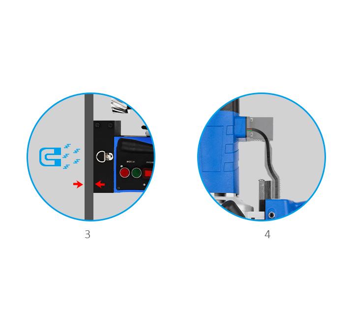 Magnetna bušilica SMD50B, 220V, K3