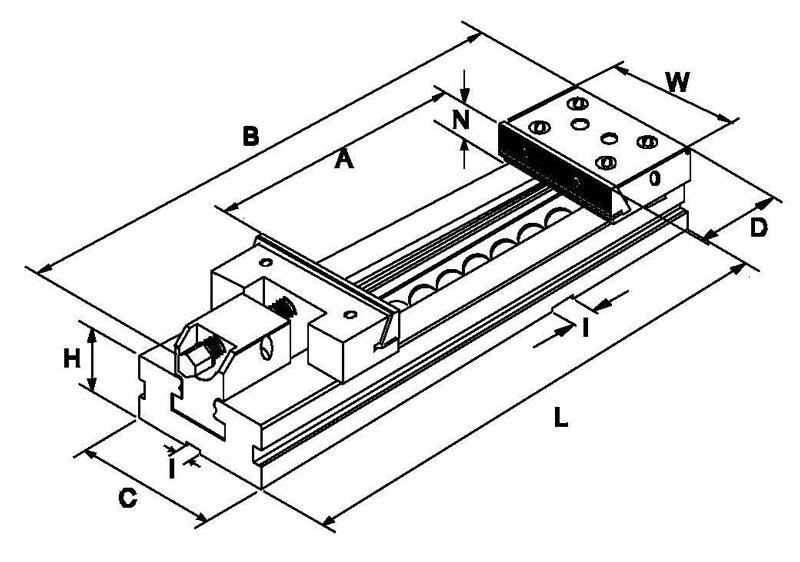 Strojni škripac F345150, brušeni 125×150 mm