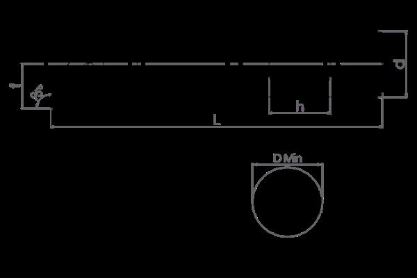 Držač pločice S40U TWLNR 08