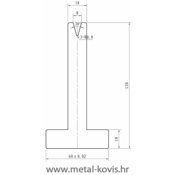 Donji alat za savijanje MT06.30.062 L=2000 mm