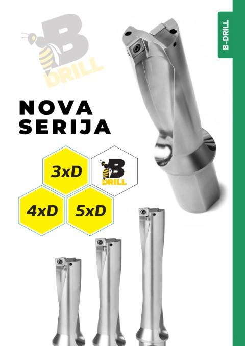 Svrdla s pločicama, BFT serija: B-DRILL 3xD, 4xD,5xD