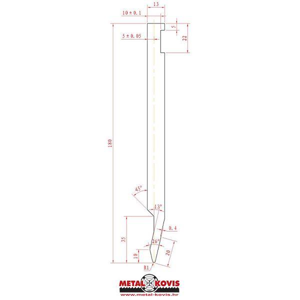Gornji alat za apkant prešu L180.26.10 L=1000mm