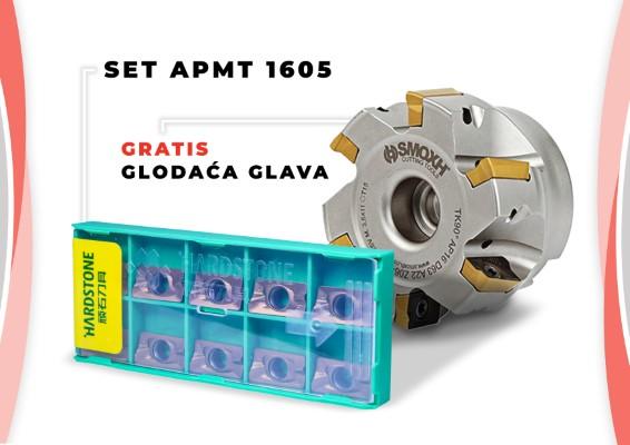 Set od 60 pločica APMT 1605 + gratis glodaća glava TK90 AP16