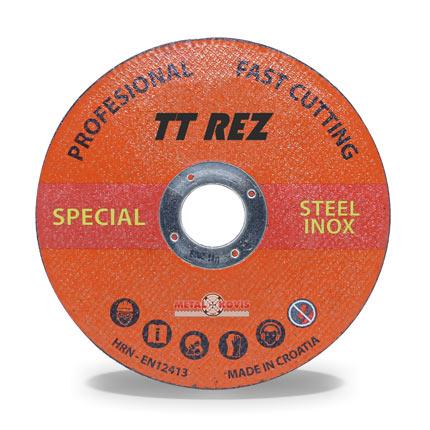 Rezna ploča TT REZ za čelik/inox 125x1,0x22 mm