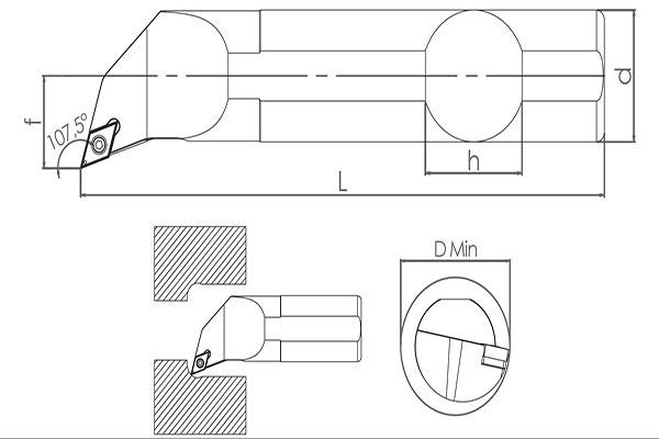 Držač pločice S20R SDQCR 11