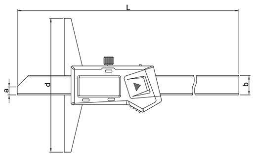 Dubinomjer digitalni 0-200 mm, INSIZE