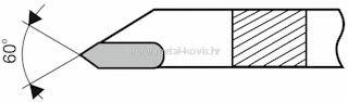 Tokarski nož ISO13 (DIN282) 12×08