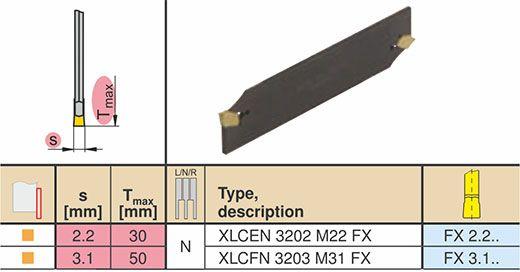 Odrezni list XLCEN 3202 M22 FX